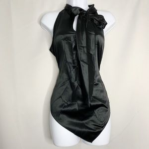 Elie tahari black high neck dressy tank XS holiday